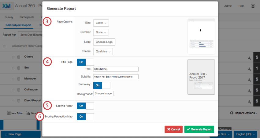 Customizing your generated report