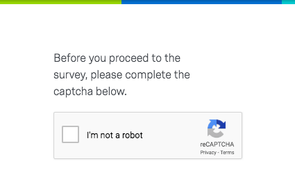 A captcha where you are asked to prove you are not a robot
