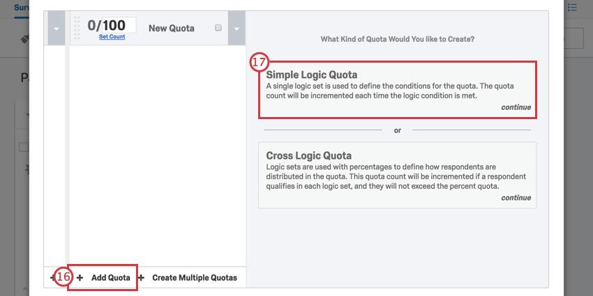 Adding a simple logic quota
