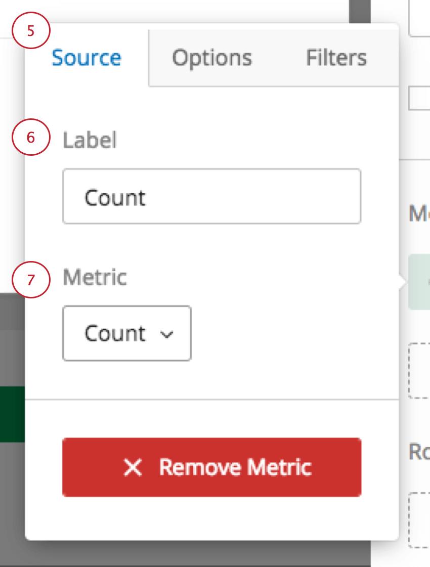 Customizing a metric