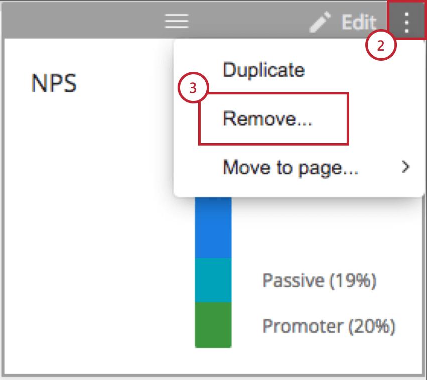 Remove option on a widget