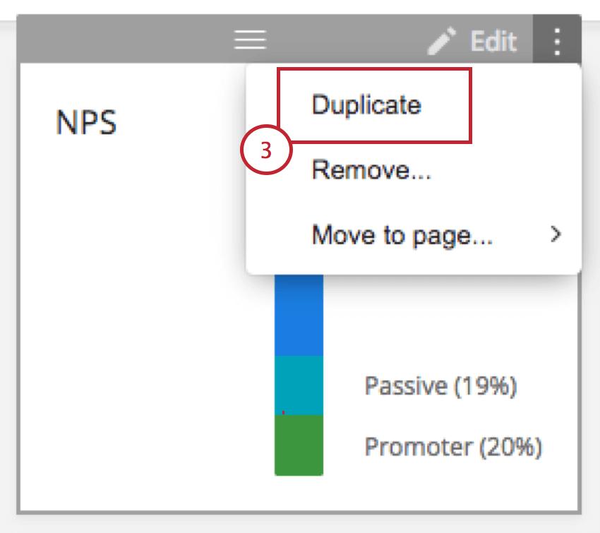 Duplicate option on a widget