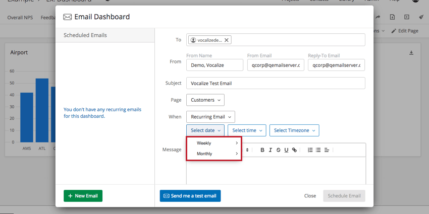 Select Date dropdowns