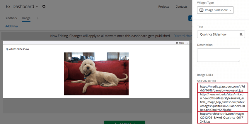 Image Position and Slideshow Speed options