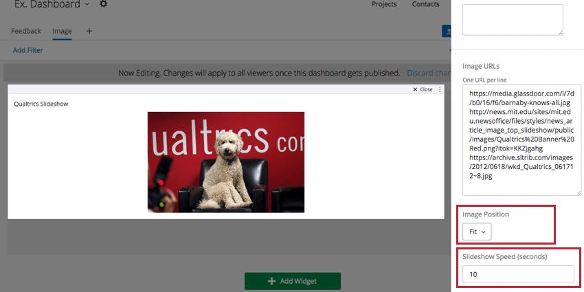 Image URLs for Image Slideshow Widget