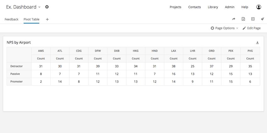 Pivot Table widget