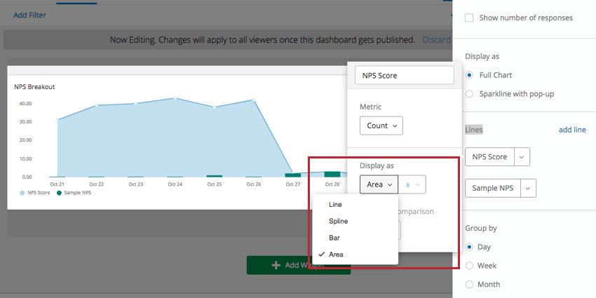 Display as option with dropdown