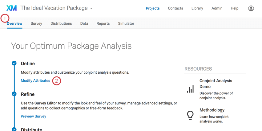Modify Attributes is the first bullet point inside the overview tab
