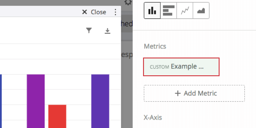 Custom Metric now displayed