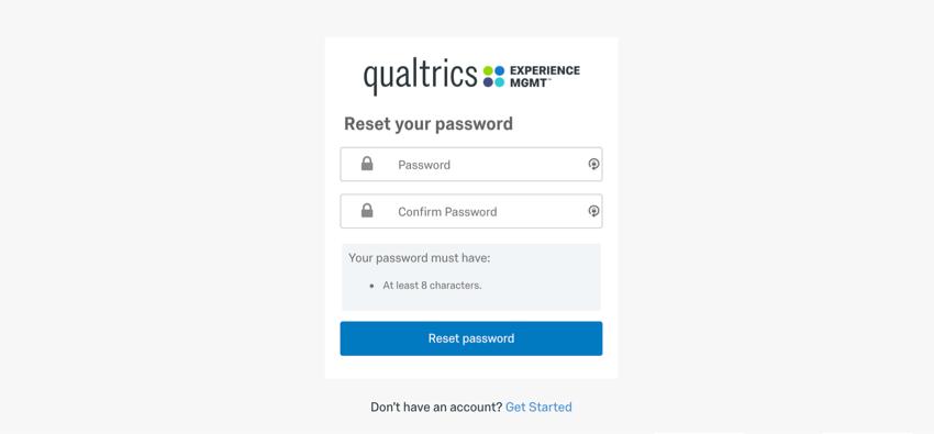 login window prompting for password reset
