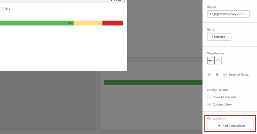 Add Comparisons section in the question editing pane