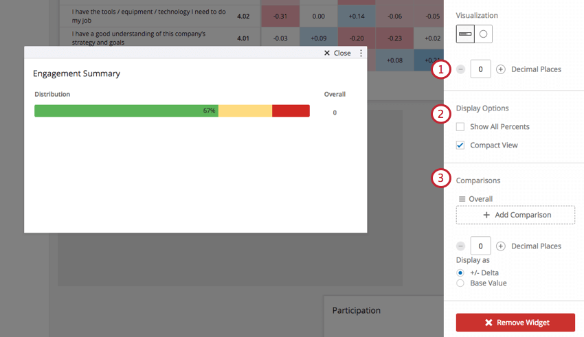 Engagement Summary with the editing pane open to the right
