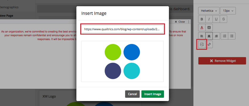 Image insertion on the Rich Text widget