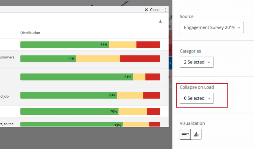 Collapse on Load option on the editing pane of a Scorecard widget