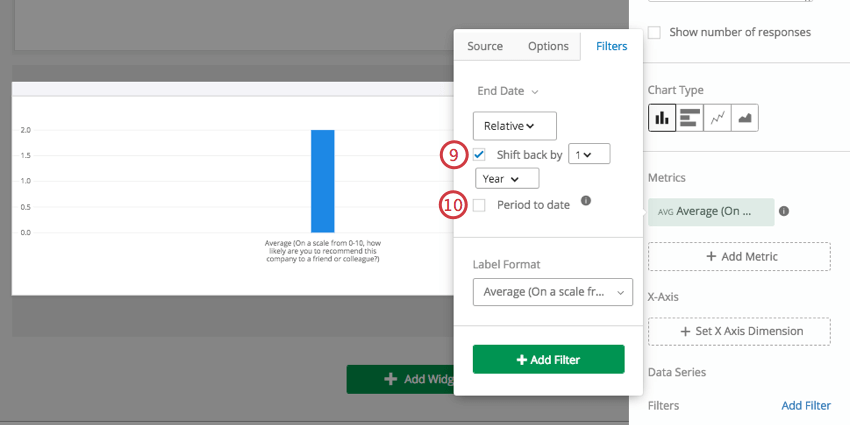 Once checkbox for shift back selected, new checkbox appears below