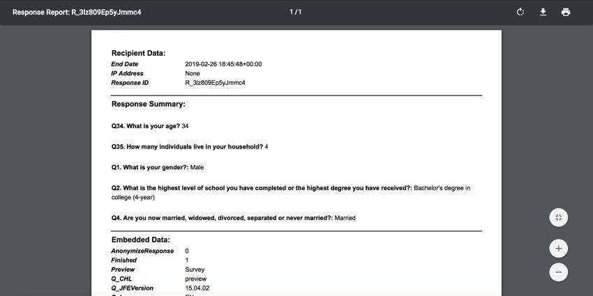 A response report PDF