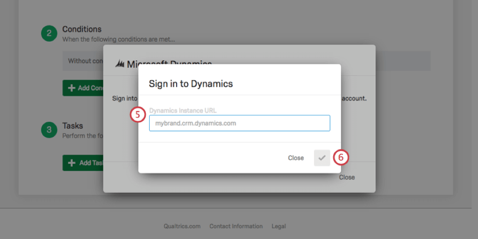 sign in to dynamics window opens