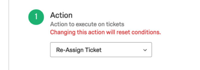 Re-Assign Ticket in Action dropdown