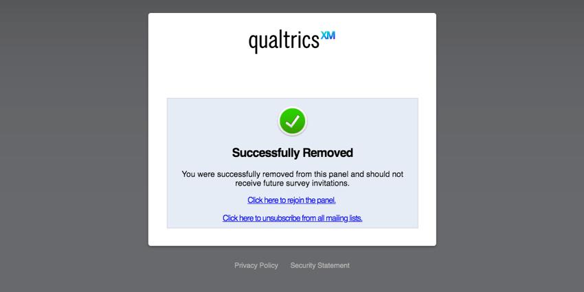Qualtrics-Nachricht