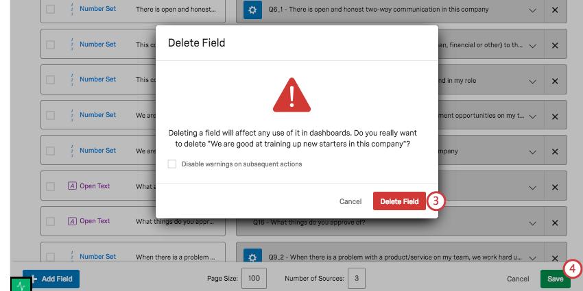 Deletion confirmation window