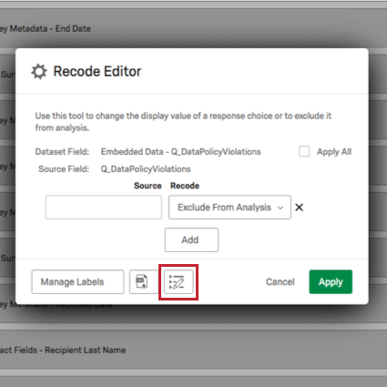 Image showing how to access the delimiter editor