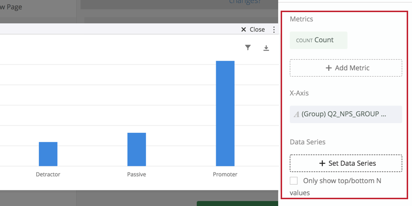 image of the data setup for simple charts
