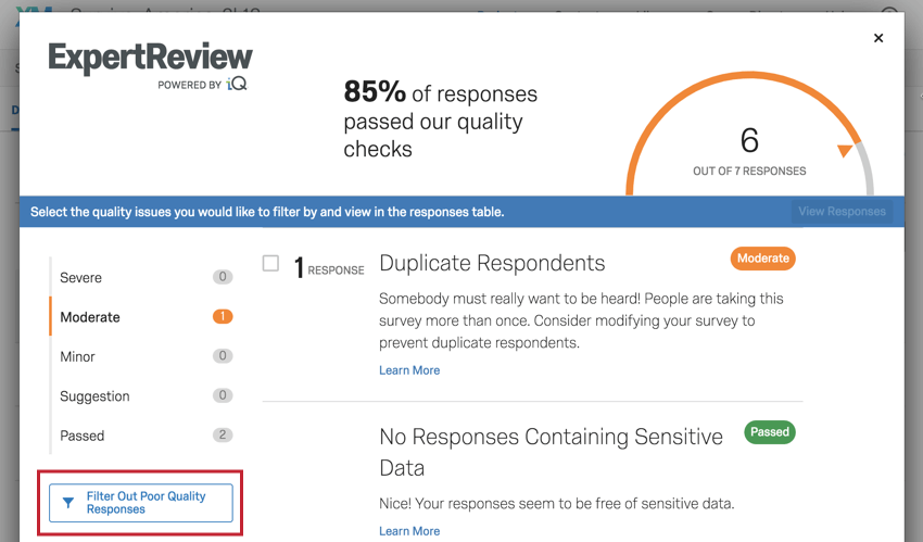 Image of the ExpertReview filter