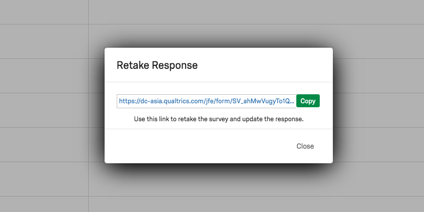 image of the new retake link for a recorded response
