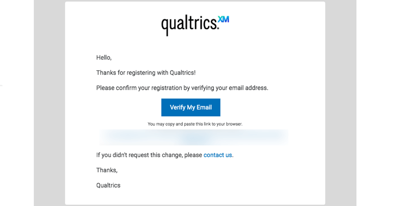 image of the account verification email
