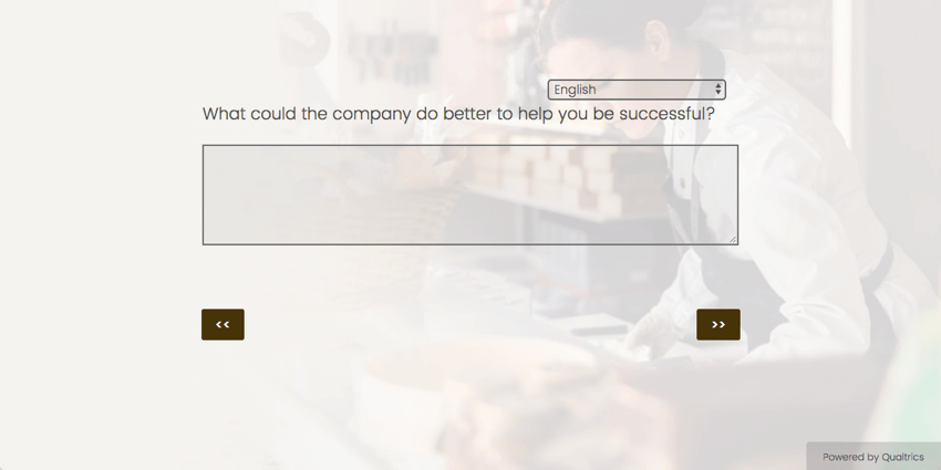 Above the essay text box, it asks, What could the company do better to help you be successful?