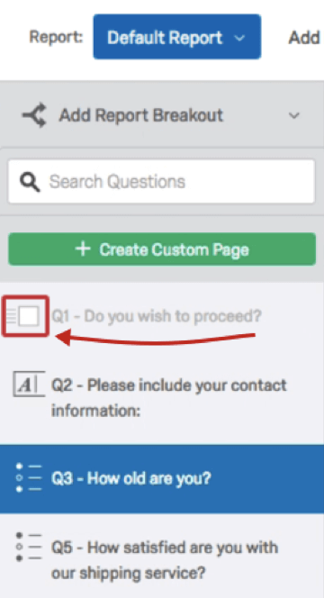 Checkbox to left of a page