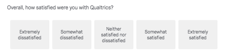 Overall how satisfied where you with Qualtrics?