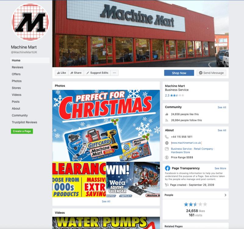 Machine Mart Facebook Page