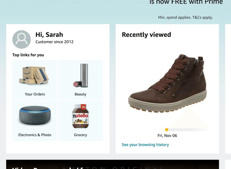 Amazon personalisation