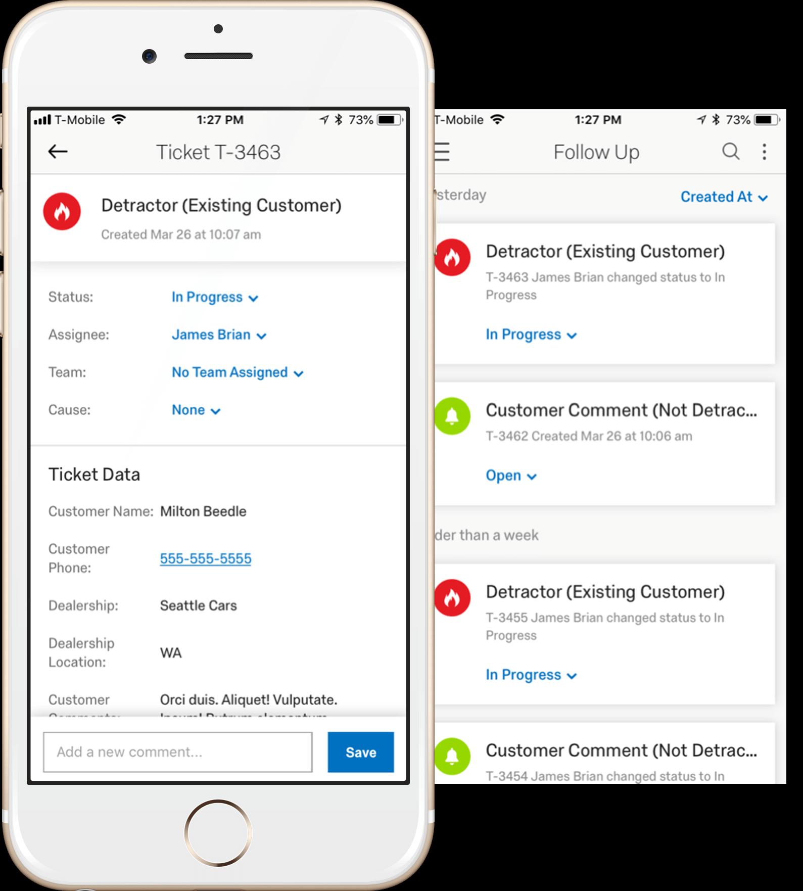 Qualtrics - Mobile app for closed loop customer followup