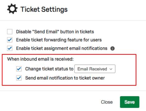 Email status