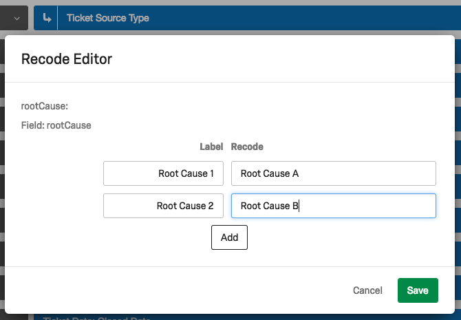 Recode editor