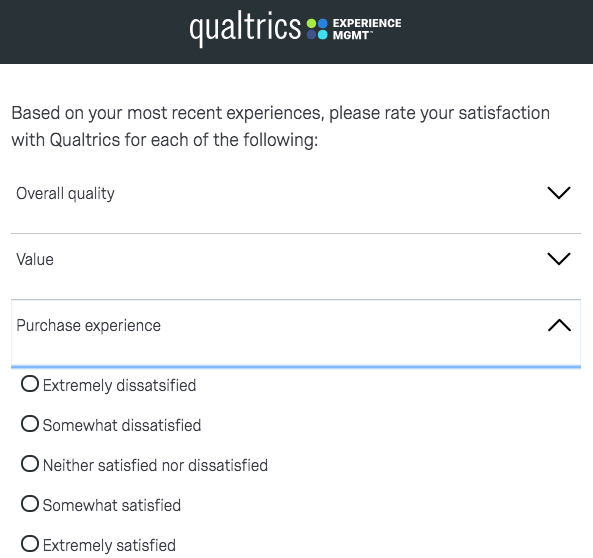 satisfaction category question