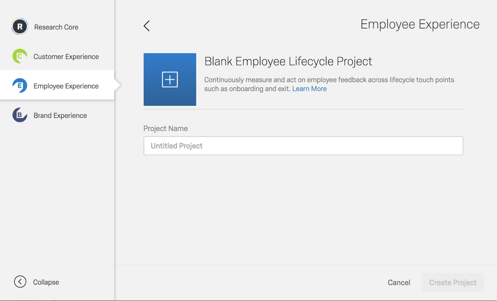 Blank employee life cycle project