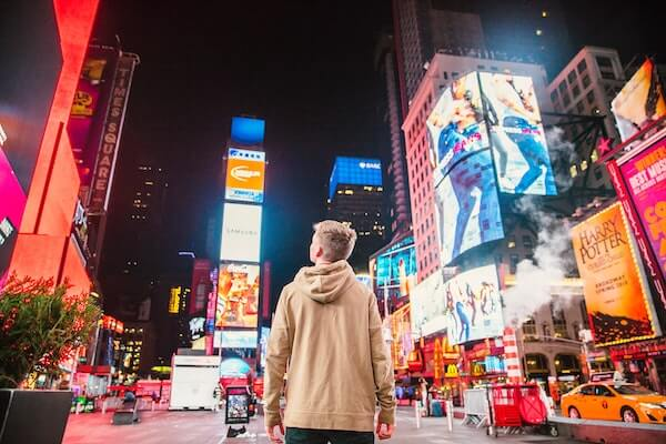 Ad testing - Time Square