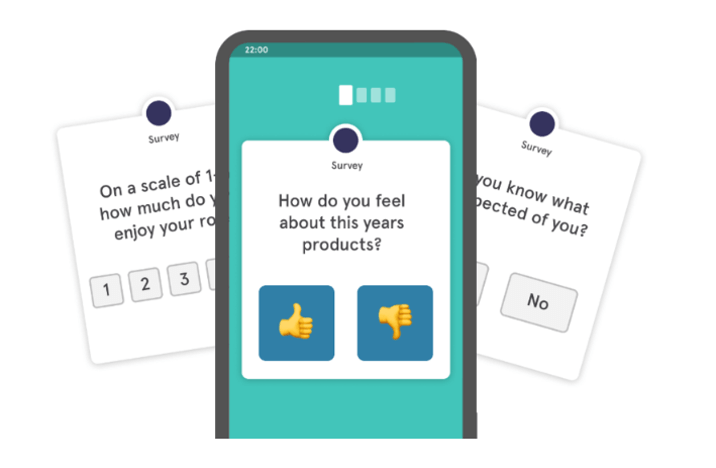 pulse survey example screenshot