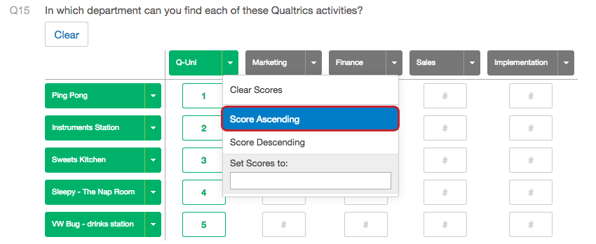 Scoring qualtrics support fandeluxe Image collections