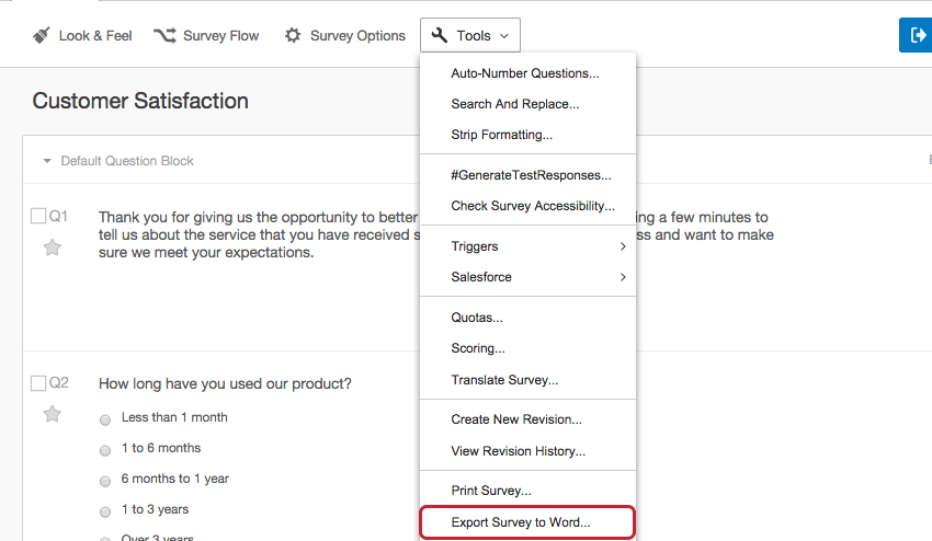 Recode Values Qualtrics Support – Make a Survey in Word
