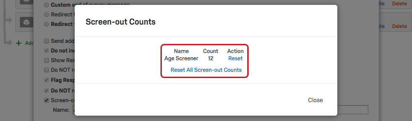 Screen-Out Management - Qualtrics Support