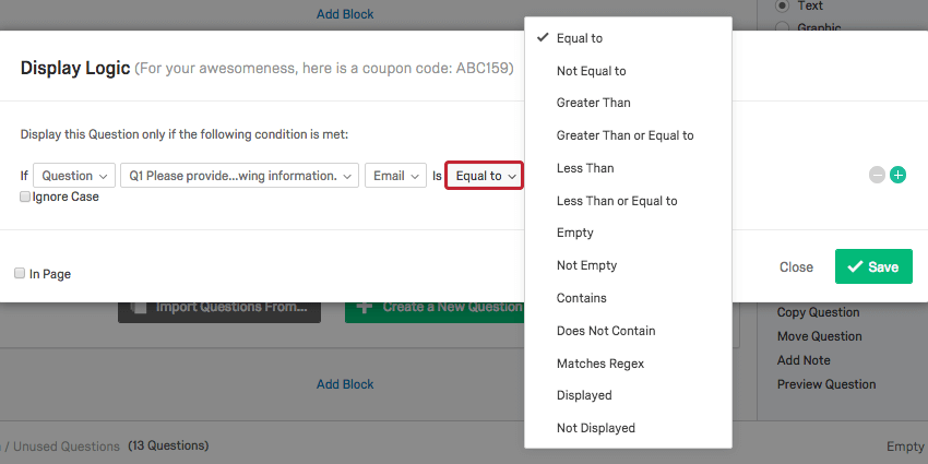 Using logic qualtrics support fandeluxe Image collections