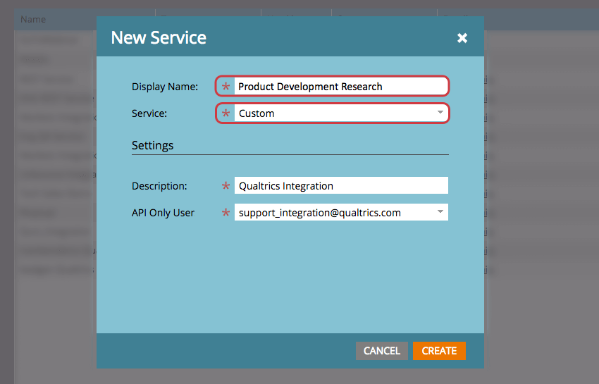 New Service Window