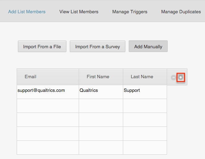 Add Mailing List Contacts