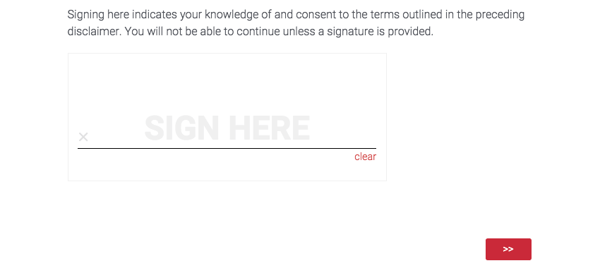 A question in a survey where respondents can provide a signature