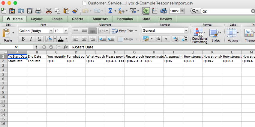 Spreadsheet open of empty data download