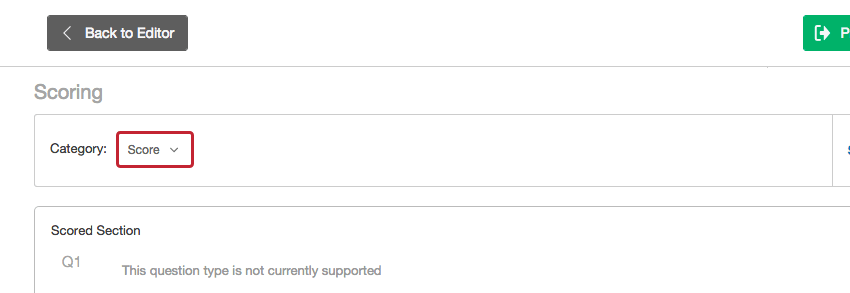 category dropdown